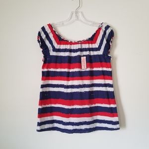 NWT Vineyard Vines Red/White/Blue Cotton top, XS